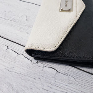Nine West Bags - Nine West Black and White Tri-Fold Wallet